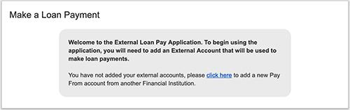 online banking make a loan payment screen shot