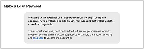 online banking make a loan payment screen shot 2