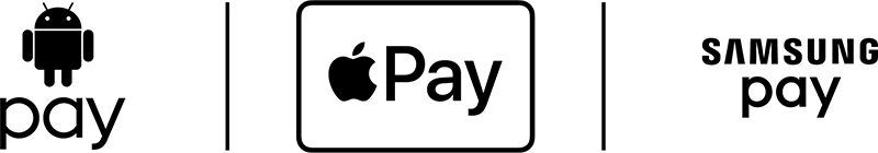 Andriod pay, Apple pay, Samsung pay logos