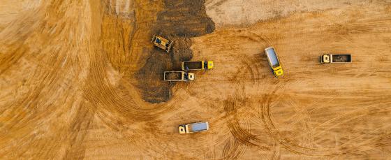 Trucks on land