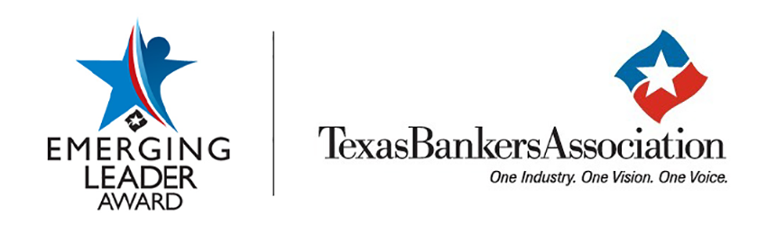 Emerging Leader Award logo with Texas Bankers Association logo