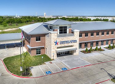 Overhead photo of the Waxahachie branch
