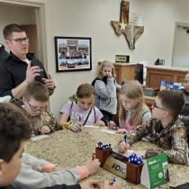 Kids gathered to learn about financial literacy