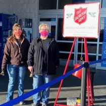 Ringing the Salvation Army Kettle Bells in Mineral Wells