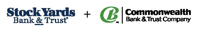 Stock Yards Bank and Commonwealth Bank logos
