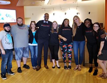 Auburn branch team with nonprofit partners