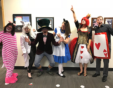 Verity staff dressing up for Halloween