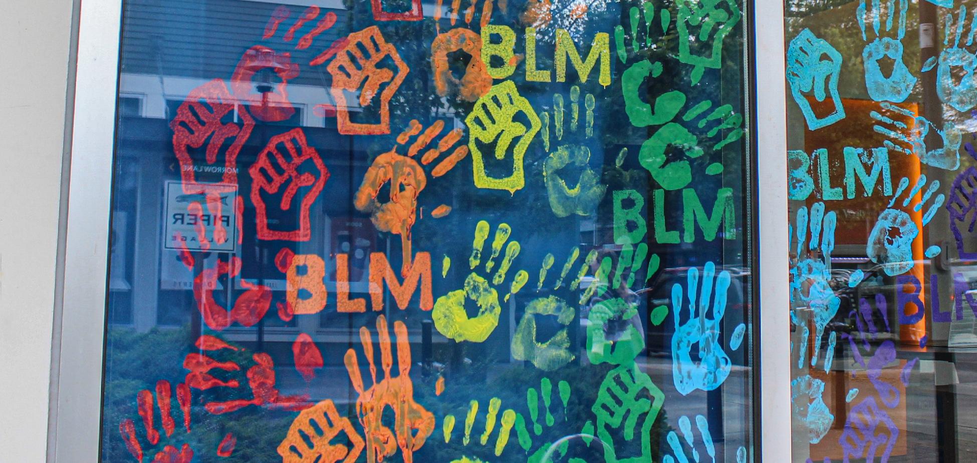 Greenwood branch window mural