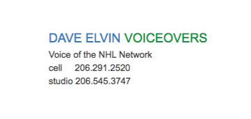 Dave Elvin Voiceovers logo