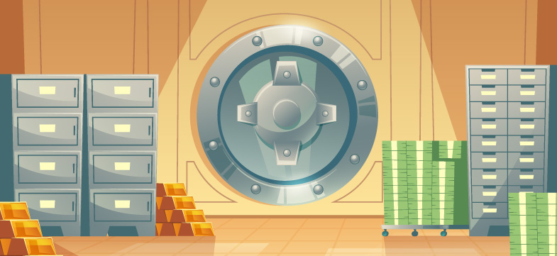 Cartoon Bank Vault