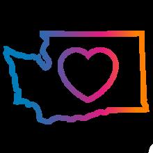 Washington state with heart